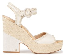 Lillie Braid-trimmed Leather Sandals