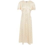 Floral-print Satin Midi Dress