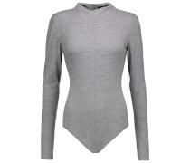 Merino Wool-jersey Bodysuit Gray