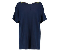 Pointelle-trimmed cashmere top