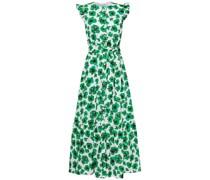 Gabriella Belted Floral-print Cotton-poplin Maxi Dress