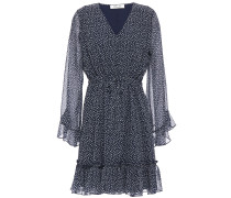 Harlene Ruffled Floral-print Georgette Mini Dress