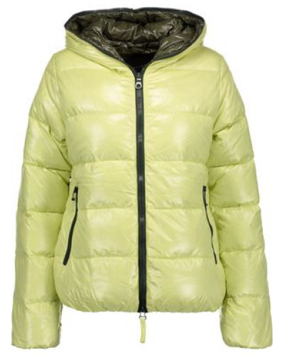 Thia quilted shell down hooded coat