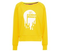 Flocked Printed Jersey Sweatshirt