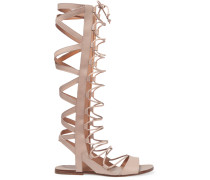 Bright Leather Sandals Neutral
