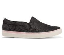 Calf-hair Slip-on Sneakers Schwarz