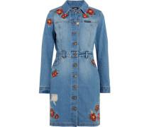 + Lee Embroidered Denim Mini Dress Mittelblauer Denim