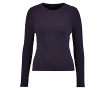 Fluted Cashmere Sweater Dunkellila
