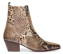 Anouck snake-print leather ankle boots