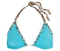 Embellished Triangle Bikini Top Türkis