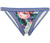 Tief Sitzendes Bikini-höschen mit Floralem Print