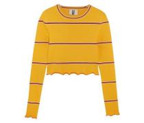 Margot striped stretch-knit top