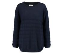 Breton Textured Merino Wool Sweater Mitternachtsblau