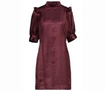 Minikleid aus Geprägtem Satin mit Rüschen