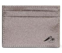 Love Tuxedo Textured-leather Cardholder Silber