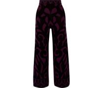 Jani Jacquard-knit Wide-leg Pants Plaume