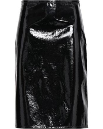 Vinyl Skirt Black
