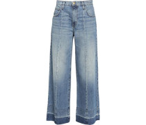 The Wide Leg frayed jeans