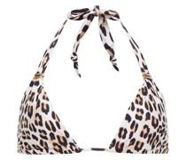 Scarlet Bia Triangel-bikini-oberteil mit Leopardenprint