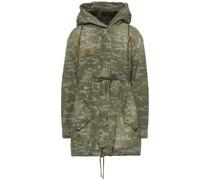 Distressed Camouflage-print Cotton Hooded Parka