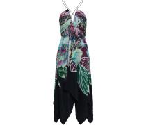 Open-back Floral-print Silk Crepe De Chine Midi Dress