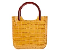 Eric Resin-trimmed Croc Effect-leather Shoulder Bag