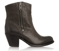 Leslie Leather Boots Charcoal