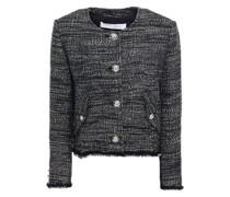 Jacke aus Tweed mit Metallic-effekt