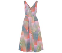 Zoey Cutout Printed Cotton-poplin Dress