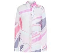 Hemd aus Jacquard aus Einer Seidenmischung mit Metallic-effekt