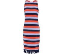 Ariana Fringed Striped Cotton Dress