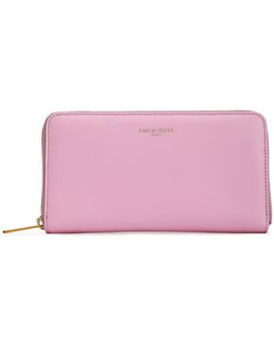 Leather Wallet Baby Pink Size --
