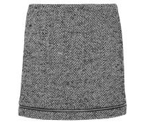 Nell Herringbone Wool-blend Mini Skirt Schwarz
