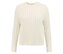 Ribbed Cotton Sweater Creme