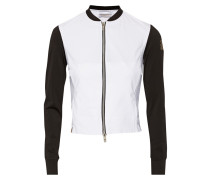 Paneled Perforated Stretch-jersey Jacket Weiß