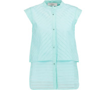 Devoré-poplin Blouse Mint
