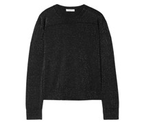 Metallic Wool-blend Top