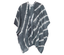 Tie-dye Cotton And Silk-blend Voile Coverup Grau