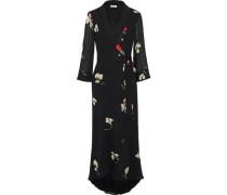Lorita Floral-print Georgette Maxi Wrap Dress Black