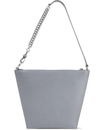 Genesis Leather Shoulder Bag Gray Size --