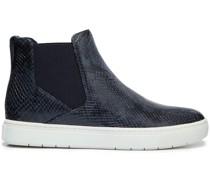 Newlyn High-top-sneakers aus Leder mit Schlangeneffekt