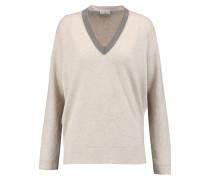 Embellished Cashmere Sweater Beige