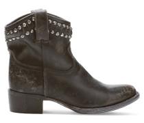 Diana Studded Leather Boots Schwarz