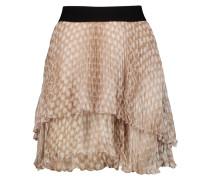 Tiered Printed Chiffon Mini Skirt Taupe