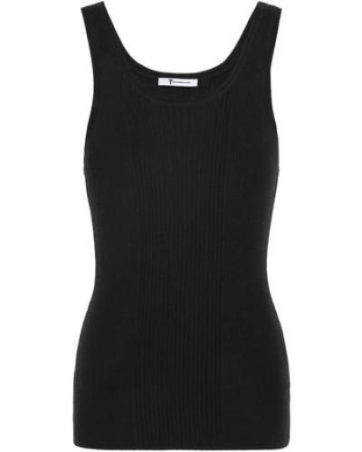 Ribbed Merino Wool-blend Tank Black