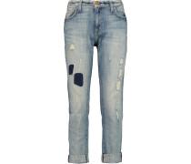 The Fling Cropped Boyfriend Jeans Heller Denim
