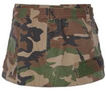 Camouflage-print cotton-twill mini skirt