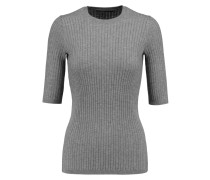 Ribbed-knit Top Grau