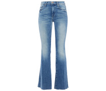 Woman The Weekender Faded High-rise Flared Jeans Mid Denim