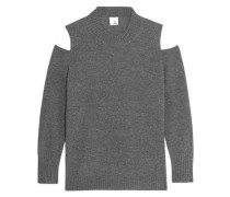 Diana cold-shoulder cashmere sweater
